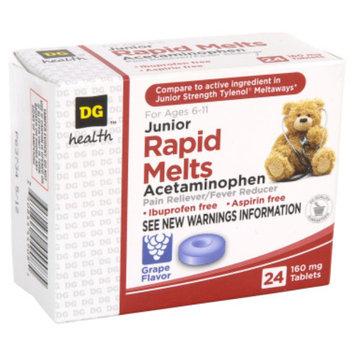 Rexall DG Health Junior Rapid Melts Acetaminophen Tablets - 24 ct
