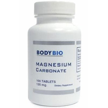 BodyBio , Magnesium Carbonate , 100 Tablets , 135mg.