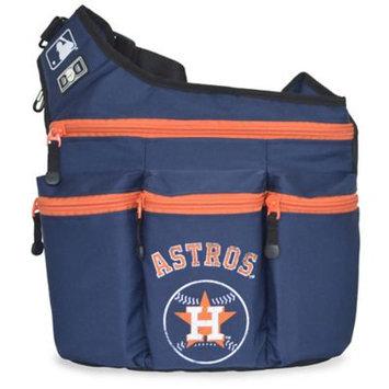 Diaper Dude Llc Diaper Dude MLB Houston Astros Messenger Diaper Bag in Navy