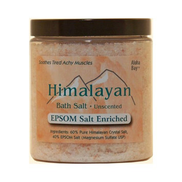 Himalayan Salt 1248228 Bath Salt 40-Pct Epsom Salt Enriched 24 Oz