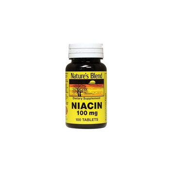Nature's Blend Niacin 100 mg 100 mg 100 Tabs