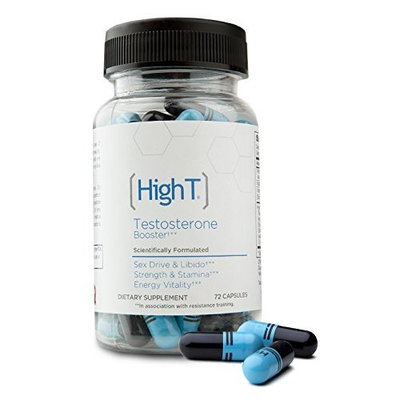 High T - All Natural Testosterone Booster - 72 Capsules