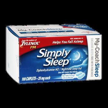 Tylenol PM Simply Sleep Nighttime Sleep Aid 25mg Caplets - 100 CT