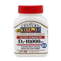21st Century Ultra Strength D3-10,000 IU, 110 tabs