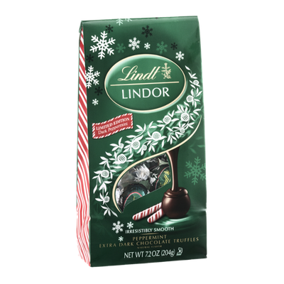 Lindt Lindor Peppermint Extra Dark Chocolate Truffles