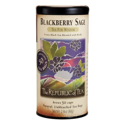 The Republic Of Tea Black Tea, Cinnamon Plum Tea Bags, 50 Tea Bag Tin