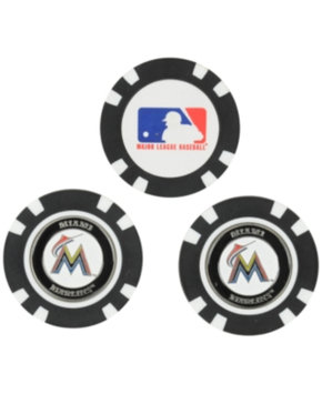 Miami Marlins Official MLB 3 Pack Ball Marker by Team Golf 96488