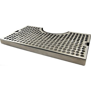 Kegworks 12 Surface Mount Drip Tray - Stainless Steel - No Drain - Tower Cutout