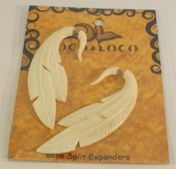 Earring Split Expander Bone White Coco Loco 1 Pair Pack