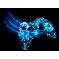 PDP Xbox 360 Afterglow Controller, Blue (Xbox 360)