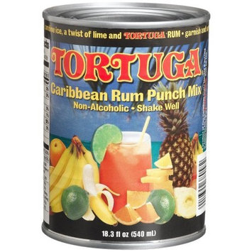 Tortuga Caribbean Fruit Punch Mix, Non-Alcoholic 19-Ounce Cans (Pack of 6)
