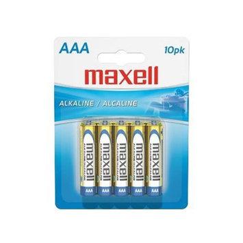 MAXELL MXLAAA10PKM Maxell AAA Alkaline Battery, 10 pack