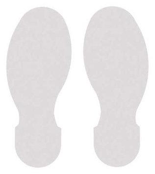 TOUGHSTRIPE 104411 Floor Marking Tape, Foot,3-1/2In, Wht, PK10