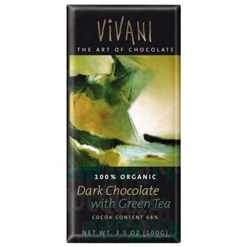 Vivani, Chocolate Bar Dark With Green Tea O, 3.5-Ounce (10 Pack)