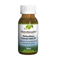 Native Remedies MellowMama Aromatic Bath Oil to Pamper for Relaxed and Stress-free Pregnancy, 30ml
