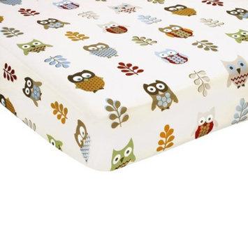 Jo Jo Designs Night Owl Fitted Crib Sheet - Owl Print