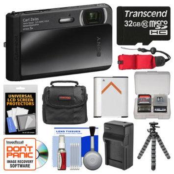 Sony Cyber-Shot DSC-TX30 Shock & Waterproof Digital Camera (Black) with 32GB Card + Case + Battery & Charger + Flex Tripod + Kit
