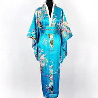 Shanghai Tone® Deluxe Kimono Robe Yukata Japanese Gown Dress w/ Obi