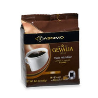 Gevalia Swiss Hazelnut Coffee, 16-Count T-Discs for Tassimo Professional (Foodservice) Coffeemakers (Pack of 5)