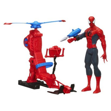 Spiderman Marvel Ultimate Titan Hero Series Spider Man Figure with Web Copter