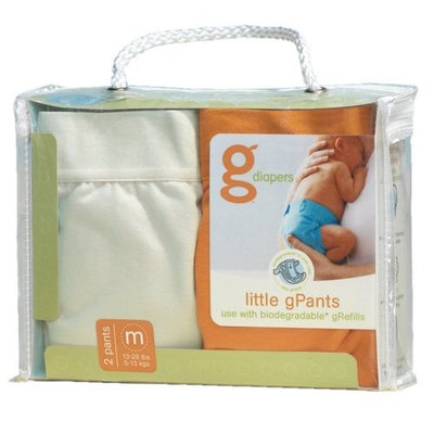 gDiapers Little gPants 2-Pack Orange & Vanilla, Medium