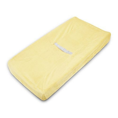 American Baby Company Heavenly Soft Chenille Fitted Contoured Changing Pad Cover, Maize
