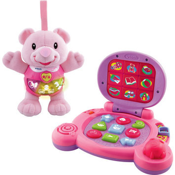 VTech - Baby's Learning Laptop and Happy Lights Bear Learning Toy, Pink