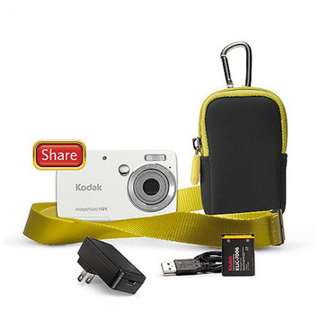 Kodak M200 10MP Ultra Small Digital Camera Bundle w/ 3x Optical Zoom, 2.5