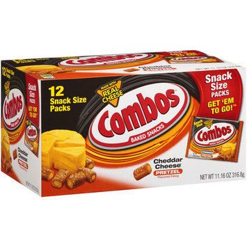 Combos Cheddar Cheese Pretzel Baked Snacks, 0.93 oz, 12 count