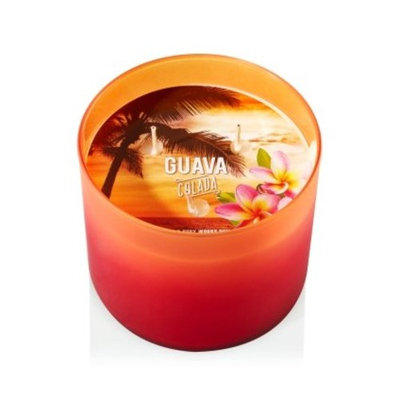 Bath & Body Works Scented 3 Wick Candle 14.5 Oz Guava Colada