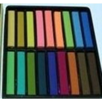 PASTEL HAIR COLORS TEMPORARY PASTEL HAIR 18 COLORS CHALK OF FLUORESCENT & AUSILIARY DYE DIY SALON KIT COSPLAY