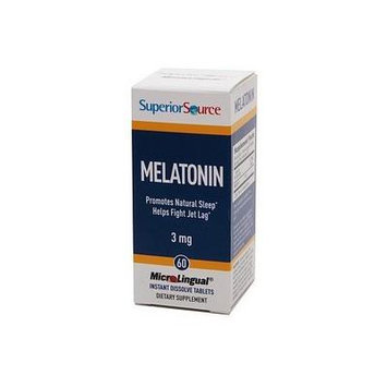 Superior Source Melatonin 3mg, Disolve Tablets 60 ea