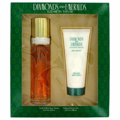 Diamonds & Emeralds for Women by Elizabeth Taylor, Gift Set - 3.3 oz Eau De Toilette Spray + 3.3 oz Body Lotion