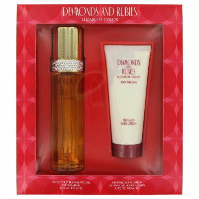 Diamonds & Rubies for Women by Elizabeth Taylor, Gift Set - 3.3 oz Eau De Toilette Spray + 3.3 oz Body Lotion