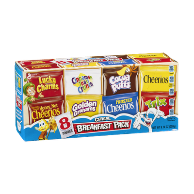 General Mills Cereal Breakfast Pack Pouches - 8 CT
