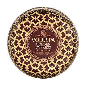 Voluspa - Maison Rouge Printed Tin - Golden Cypress Sawara