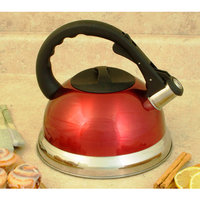 Cook Pro 3qt Red Stainless Steel Whistling Teakettle