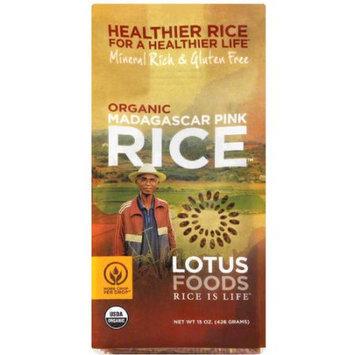 Lotus Foods Organic Madagascar Pink Rice, 15 oz, (Pack of 6)