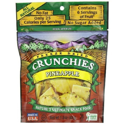 Crunchies Freeze-Dried Fruit Snack, Pineapple, 1.5-Ounce Pouches (Pack of 6)
