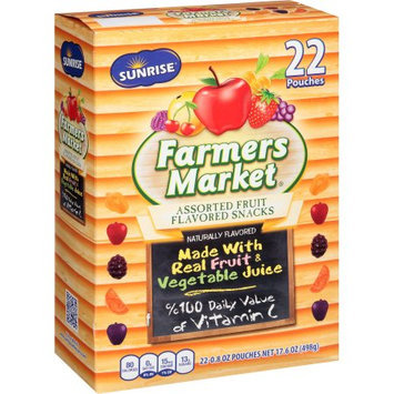Mclane Company Sunrise Farmers Market Assorted Fruit Flavored Snacks, .8 oz, 22 ct