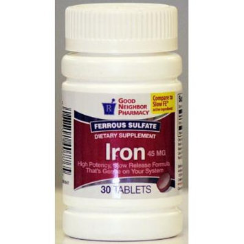GNP Iron 45 mg (30 tablets)