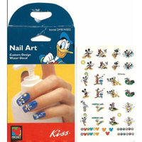Disney Summertime Fun Daisy Duck Minnie Mickey Mouse Kiss Licensed Nail Art