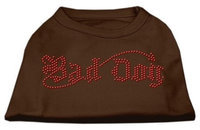 Ahi Bad Dog Rhinestone Shirts Brown XXL (18)