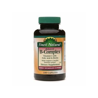 Finest Natural B-Complex Vitamin C with Folic Acid and Biotin Caplets 100 ea