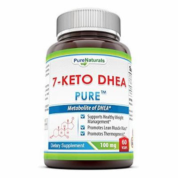 Pure Naturals 7-Keto DHEA Veg Capsules, 100 mg, 60 Count