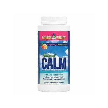 Natural Vitality Natural Calm Magnesium, Powder, Organic Raspberry-Lemon 16 oz (453 g)
