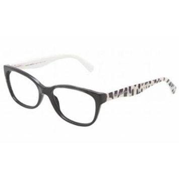 Dolce & Gabbana DG3136 Eyeglasses-501 Black-53mm