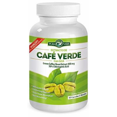 Extracto de Café Verde con GCA , Green Coffee Bean Extract with GCA (NEW FORMULA / NEW BOTTLE)