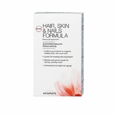 GNC Women's Hair, Skin & Nails Formula 120 Tablets Singles or Double Packs (2 Packs each 120 Caplets)