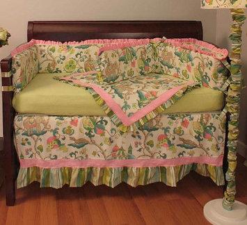 Hoohobbers Cirque 4-piece Crib Bedding Set - Pink